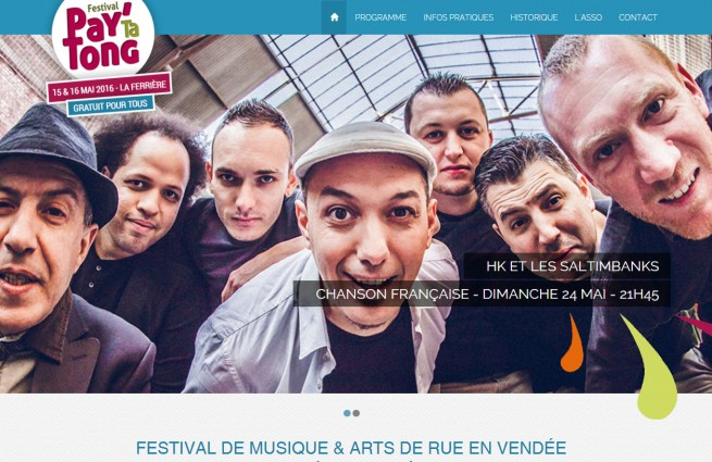 Création Site catalogue - Festival Pay'Ta Tong